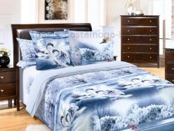Фото Комплект постельного белья Лебединое озеро 1 бязь евро 4100Б193011