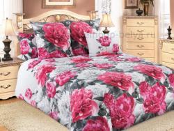 Фото Комплект постельного белья Пионы 1 бязь евро 4100Б193521