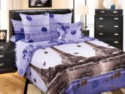 Фото Комплект постельного белья Романтика Парижа 1 бязь евро 4100Б192791