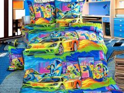 Фото Постельное бельё 1.5 спальное детское перкаль Граффити 1