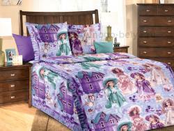 Фото Постельное бельё 1.5 спальное детское перкаль Куклы 1
