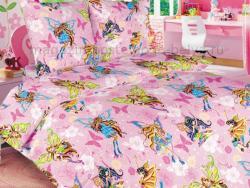 Фото Ткань перкаль 150 детская Волшебницы 1 роз