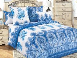 Фото Комплект постельного белья Гжель 1 перкаль 1.5 спальный 1200П194281
