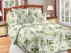 Фото Комплект постельного белья Белый сад 1 сатин евро-макси