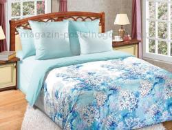 Фото Комплект постельного белья Цветочный бриз 1 сатин 1.5 спальный