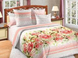 Фото Комплект постельного белья Жемчуг 1 сатин 2 спальный