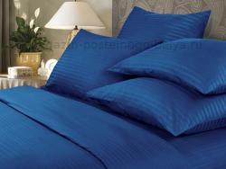 Фото Комплект постельного белья Verossa Сатин-страйп 2 спальный 563-7004-70 Indigo
