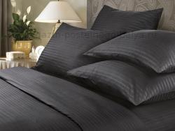 Фото Комплект постельного белья Verossa Сатин-страйп семейный 565-7005 Black