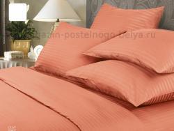 Фото Комплект постельного белья Verossa Сатин-страйп 1.5 спальный 561-7007-70 Clay