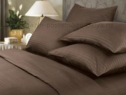 Фото Комплект постельного белья Verossa Сатин-страйп семейный 565-7009 Mokko