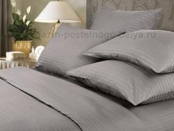 Фото Комплект постельного белья Verossa Сатин-страйп 1.5 спальный 561-7032-70 Gray