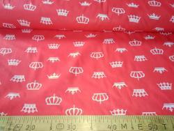 Ткань  бязь 150 Короны на красном фото
