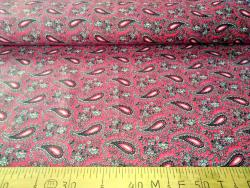 Ткань  бязь 150 Огурцы на красном фото