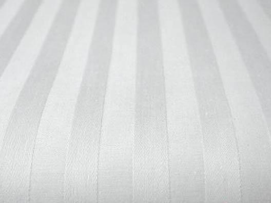 Ткань сатин-страйп белый ширина 240 см 125 гполоса 3 см фото